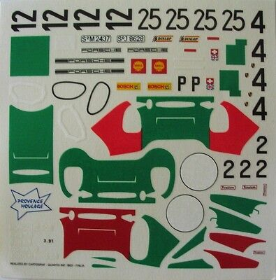 PORSCHE 908 DIFFERENTES VERSIONS 1968 / 1969 DECAL 1/43e