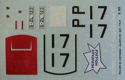 PORSCHE 910 n° 17 1er NURBURGRING 1967  DECAL 1/43e