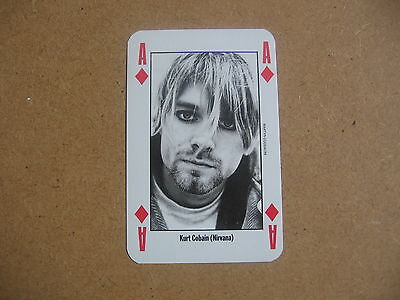 1992 Leader Of The Pack  Nme Playing Card Kurt Cobain Nirvana - Ace Of Diamonds