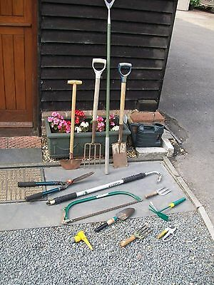 Job Lot Gardening Tools. Fork, Spade Hoe Shears Etc. COLLECTION FAREHAM PO17