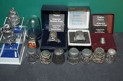 Vintage Collectable Pewter Thimbles including The Lord's Prayer Mixed Lot