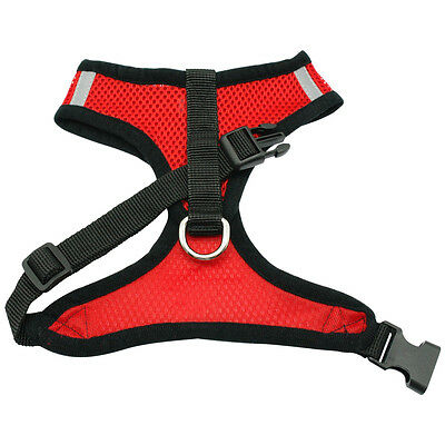 New Soft Breathable Air Nylon Mesh Puppy Dog Pet Cat Harness and Leash