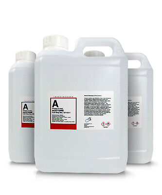 3 x 2L Pure Acetone Containers  - Acrylic Nail Remover Nail Polish Remover 99.8%