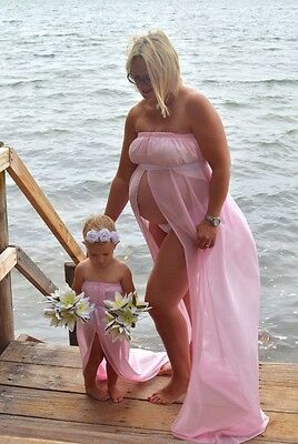 Mother & Daughter Matching Photo Shoot Dresses, Maternity Shoot Prop Dress, Gown
