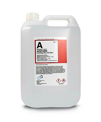 5L Pure Acetone Containers  - Acrylic Nail Remover Nail Polish Remover 99.8%