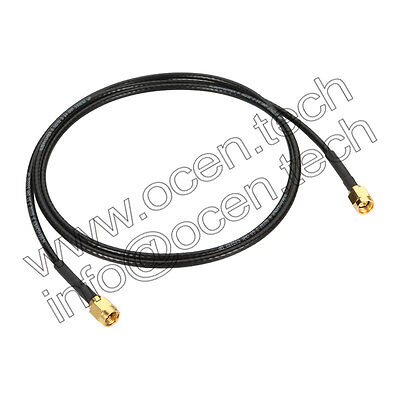 G02232D HUBER+SUHNER Flexible RF Cable Assembly SMA male to SMA male 6GHz 1m