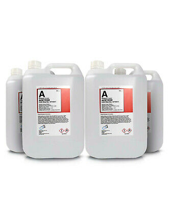 Pure Acetone Containers (4X5L) - Acrylic Nail Remover Nail Polish Remover 99.8%