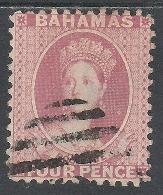 Bahamas 1882 Qv Chalon 4D Wmk Crown Ca Perf 12 Used