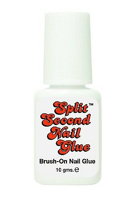 Split Second Brush On Nail Glue - 10gm