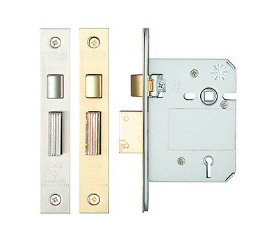 """*BS3621* 6 LEVER MORTICE SASH LOCK 3/"""" SATIN SILVER Insurance Approved D6"""