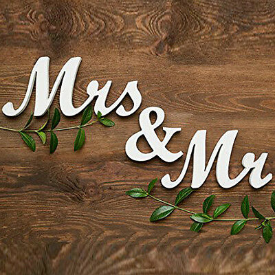 Mr and Mrs  Sign Letters White Free Standing Top Table Wedding Decoration Home