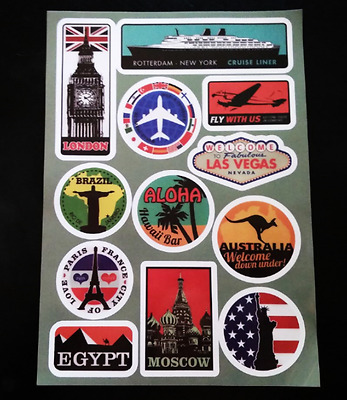 A4 Sign Luggage Bike Wall Sticker Skateboard Laptop Scooter Car Bomb Stickers