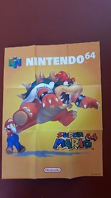 Nintendo 64 poster Early 90's Super Mario 64 A3 size they look great framed
