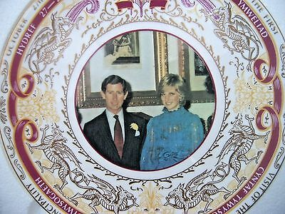 Quality Caverswall Plate Ltd Edit Visit of Prince Charles & Diana to Wales  1981