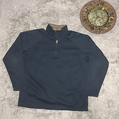 Columbia Mens Blue Pullover 1/4 Zip Jacket Size Long Sleeve XL