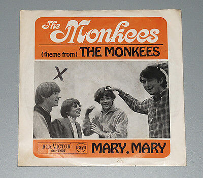 7 Single THE MONKEES Theme from the Monkees Mary, Mary