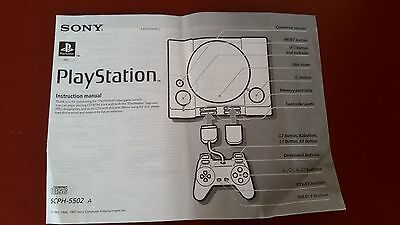 Sony Playstation One 1 Instruction Manual- Booklet SCPH-5502 A