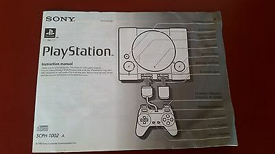 Sony Playstation One 1 Instruction Manual- Booklet SCPH-1002 A