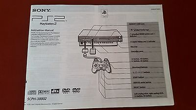 Sony Playstation Two PS2 Instruction Manual- Booklet SCPH-30002