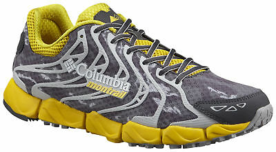 Columbia Montrail FluidFlex F.K.T. Shoe, Mens, Electron Yellow, Dark Grey, 11.5