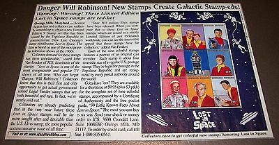 Scarce Vintage Lost In Space Postage Stamps Color Introduction Advertisement 98