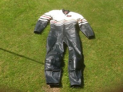 Vintage Tt Leathers One Piece Racing Suit Size 38 Inches