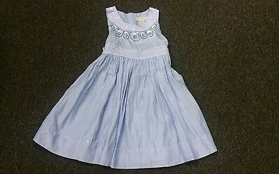 Patch Princess party/special occasion blue dress cotton, silk beaded 3 years