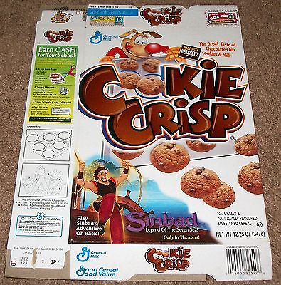 2003 General Mills Cookie-Crisp Cereal Box Flat Dreamworks Sinbad Artwork