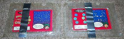 VINTAGE MISP 2 OF 4 LUCKY CHARMS GLOW IN THE DARK SPACE STICKERS ACTIVITYS 90s