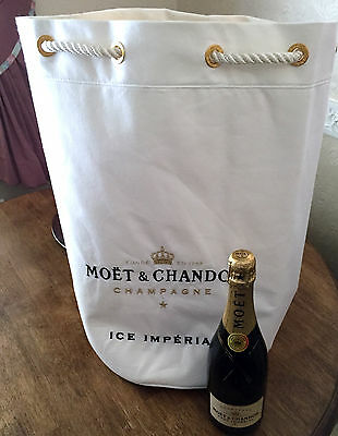 Moet Chandon Ice Imperial Champagne 55Cms Beach Bag Duffle Bag Rope Handle New