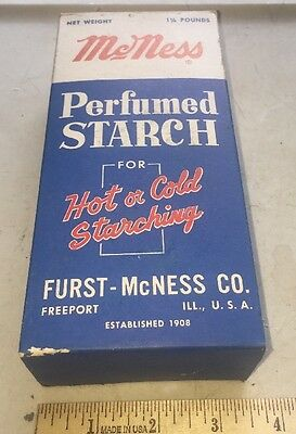 Vintage Laundry Starch in Box  McNESS Unused - FREEPORT ILLINOIS