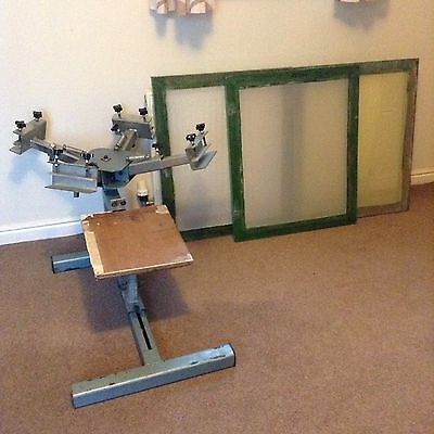 4 Colour Screen Printing Carousel & 3 Large Screens - Need Gone Today Thursday!