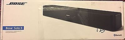 Bose Solo 5 TV Sound Bar Speaker Sound System - Black New And Sealed