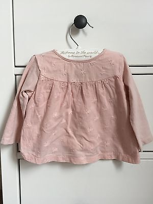 Zara Baby Girl Pink Top 6-9 Months