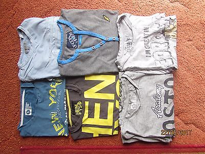 Boys T-Shirt Bundle Of 6 Size Small Including Ted Baker And Henleys