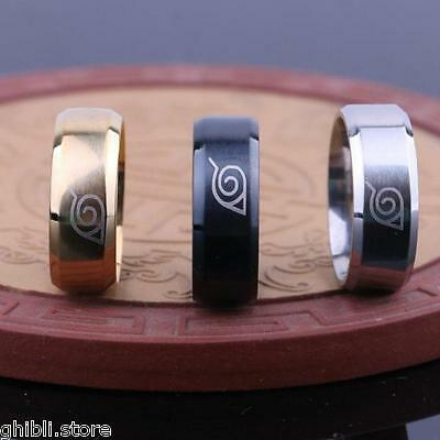 Naruto Logo Stainless Steel Ring