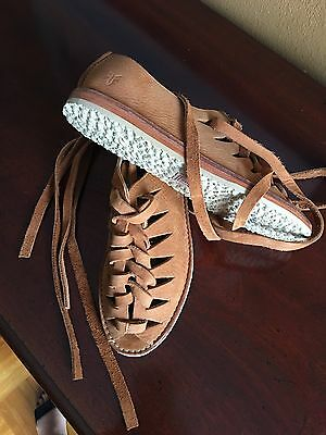 New Frye Shoes Strap Genuine Leather Comfort Size 8
