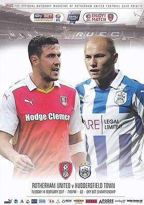 2016/17 - ROTHERHAM UNITED v HUDDERSFIELD TOWN (14th February 2017)