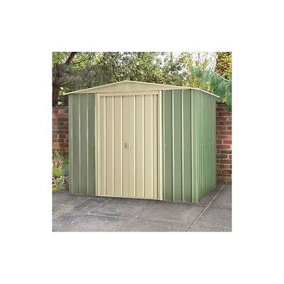 10X12 Ashlee Andrew Green Metal Apex Shed