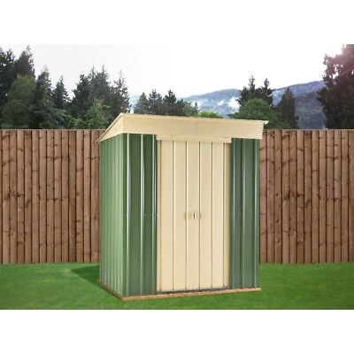 6X4 Ashlee Sarah Green Metal Pent Shed