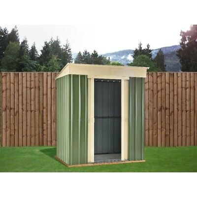 8X4 Ashlee Ciara Green Metal Pent Shed