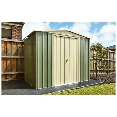 8X6 Ashlee Conor Metal Garden Shed Mist Green Metal Apex