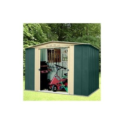 Oldfields 10X8 Metal Garden Shed Green Apex