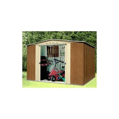 Oldfields Metal Shed 10X8 Woodgrain Effect