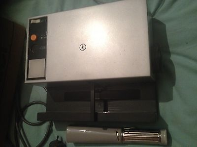 Rollei P350A Slide Projector with Remote, Torch and NIB Twin 50 Magazines