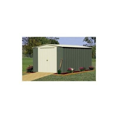 Oldfields Metal Shed 10X13 Apex Green.
