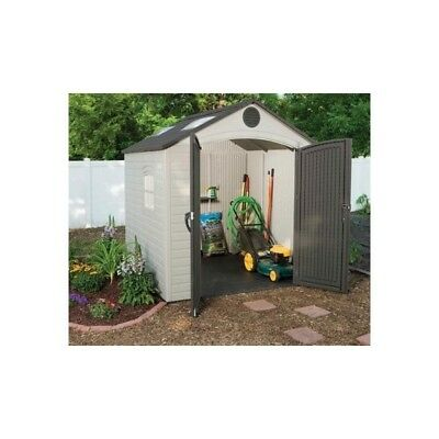 8X7.5 Lifetime Products Garden Shed With Floor.