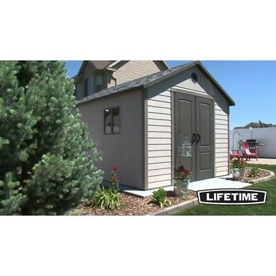 11X11 Heavy Duty Lifetime Products Shed With Double Doors