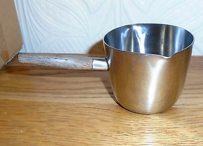 Vintage Danish Modernist MCA Stainless Steel & Teak Milk ? Sauce ? Pourer Jug