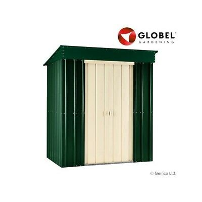 6X4 Pent Heritage Green Metal Garden Shed